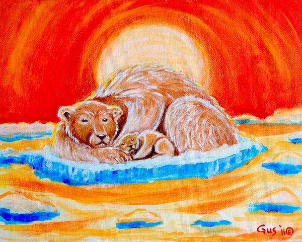 Polar Bear Art Print featuring the painting Final Days by Nick Gustafson
