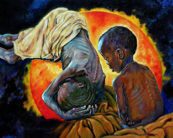 Starvation Art Print featuring the painting First Corinthians 1-25 by John Lautermilch