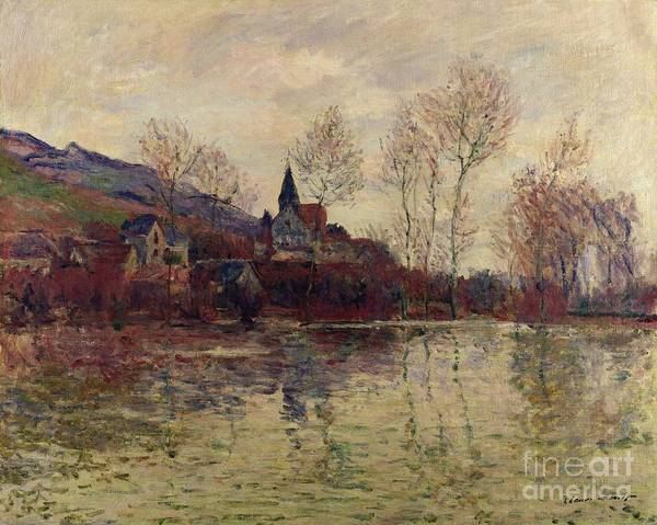 Floods At Giverny Art Print featuring the painting Floods At Giverny by Claude Monet