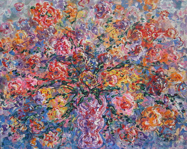 Painting Art Print featuring the painting Floral Melody by Leonard Holland