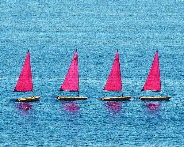 Sailing Boats Spain Art Print featuring the photograph Flotilla by John Bradburn