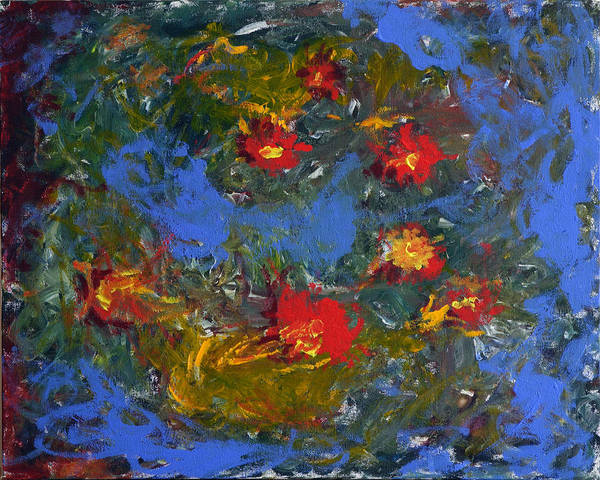 Flowers Art Print featuring the painting Flowers - Fun With My Wife by Stefan Maguran