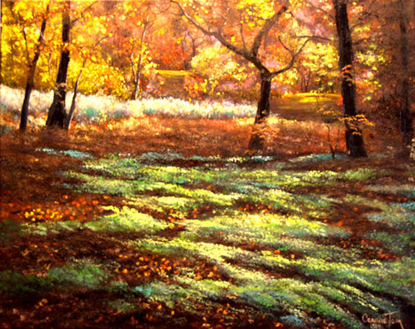 Connie Tom Art Print featuring the painting Forest Floor by Connie Tom