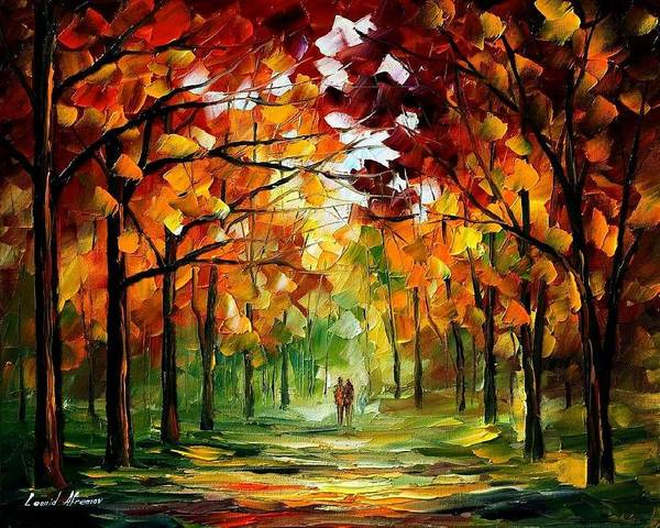 Jandscape Art Print featuring the painting Forrest Of Dreams by Leonid Afremov