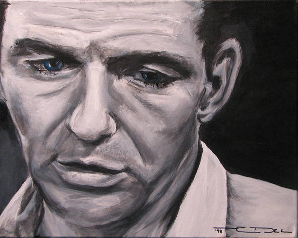 Celebrity Portrait Art Print featuring the painting Frank With The Golden Arm by Eric Dee