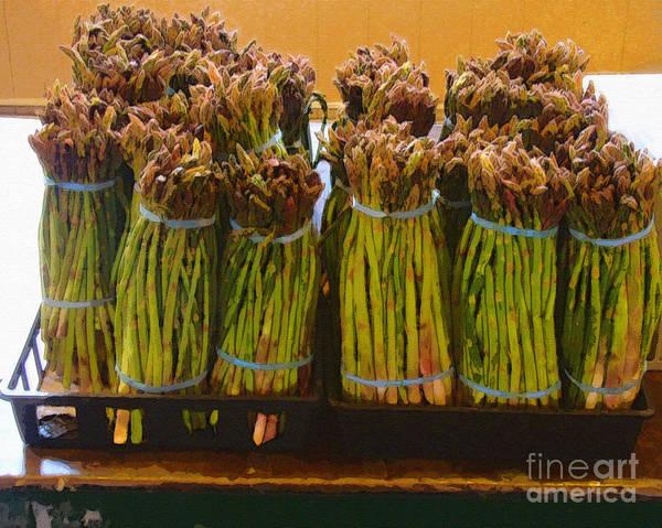 Fresh Art Print featuring the photograph fresh Asparagus by Lydia L Kramer