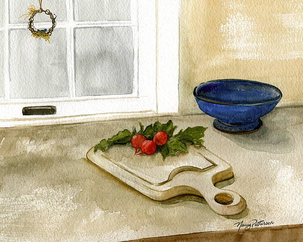 Radish Art Print featuring the painting Fresh Radishes by Nancy Patterson