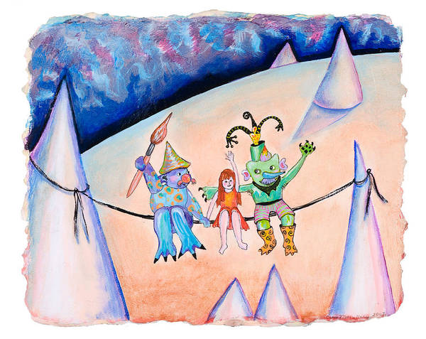 Conical Hills Art Print featuring the painting Friends Indeed by Cecie McCaffery