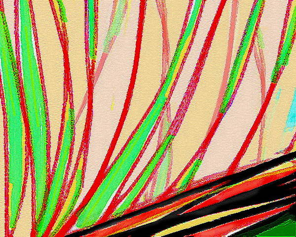 Abstract Art Print featuring the painting Frond Craquelure by Paul Little