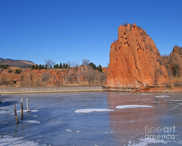 Rock Art Print featuring the photograph Frozen Lake Front by Jack Norton