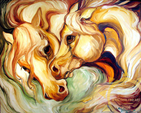 Horse Art Print featuring the painting Fury by Marcia Baldwin