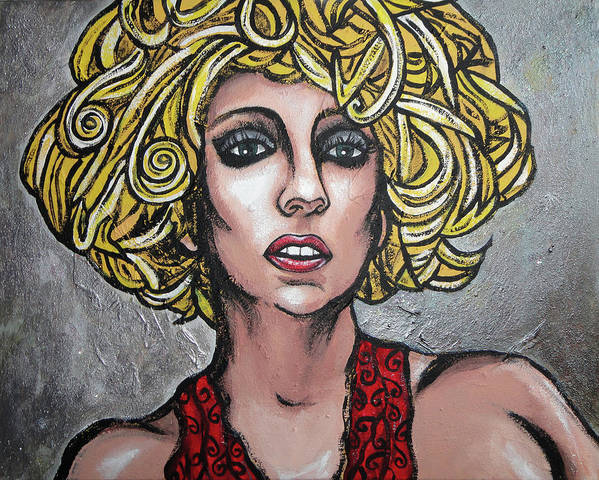 Lady Art Print featuring the painting Gaga by Sarah Crumpler