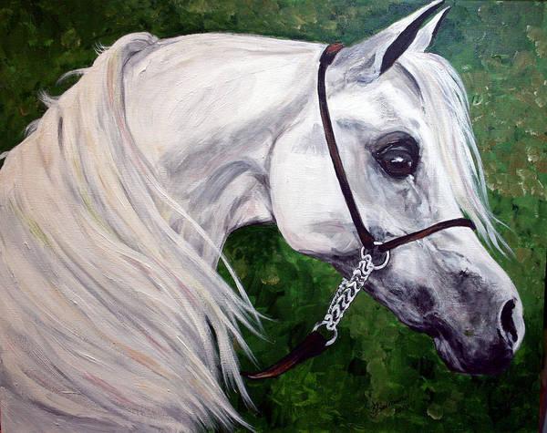 Horse Art Print featuring the painting Gentle Arabian by BJ Redmond