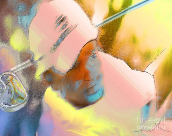 Golf Art Print featuring the painting Golf Dream by Miki De Goodaboom