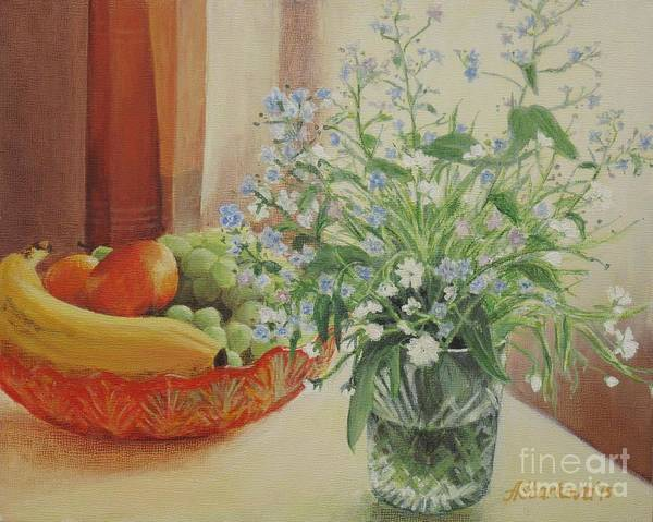 Flowers Art Print featuring the painting Good Morning Sunshine by Anna Starkova
