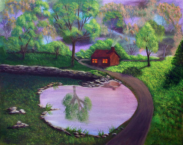 Light Art Print featuring the painting Good Spring Morning by Dawn Blair