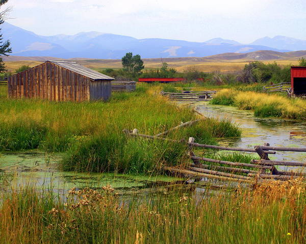 Ranch Art Print featuring the photograph Grant Khors Ranch Deer Lodge Mt by Marty Koch