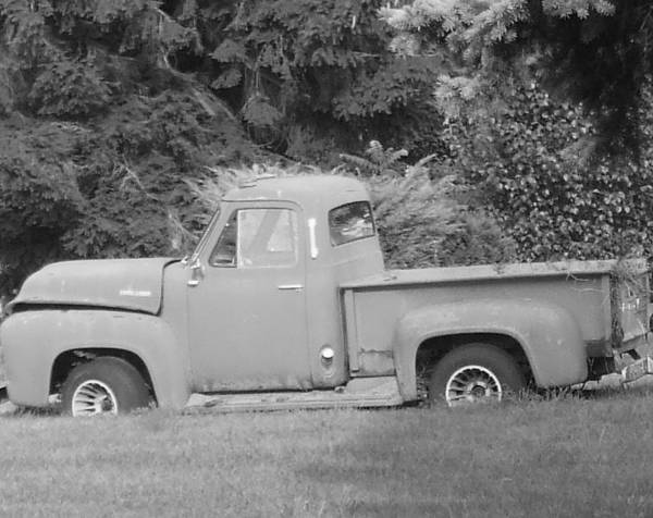 Truck Art Print featuring the photograph Grounded Pickup by Pharris Art