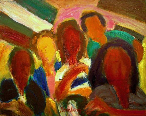 Dornberg Art Print featuring the painting Group Photo by Bob Dornberg