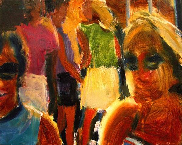 Dornberg Art Print featuring the painting Happy Kids by Bob Dornberg