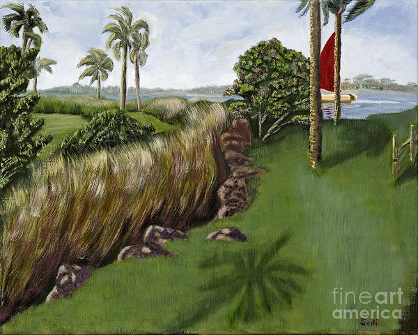Landscape Art Print featuring the painting Heading To The Keys by Sodi Griffin