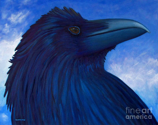 Raven Art Print featuring the painting Heaven Bound by Brian Commerford