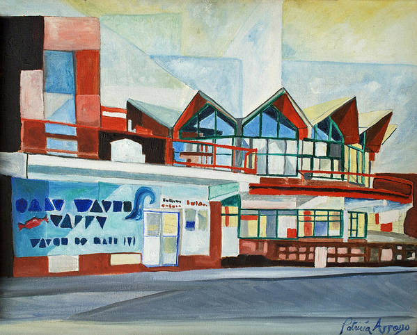 Asbury Art Art Print featuring the painting Hojo's Abstracted by Patricia Arroyo