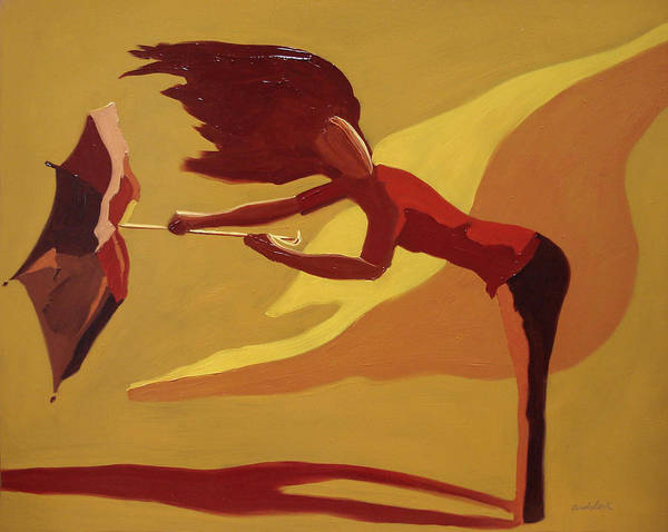 Woman Art Print featuring the painting Hold On by Barbara Andolsek