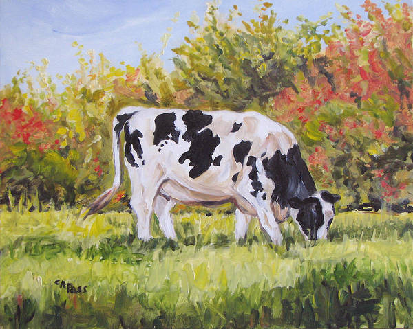 Holstein Art Print featuring the painting Holstein by Cheryl Pass