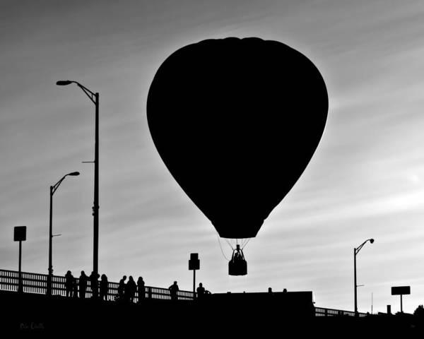 Silhouette Art Print featuring the photograph Hot Air Balloon Bridge Crossing by Bob Orsillo
