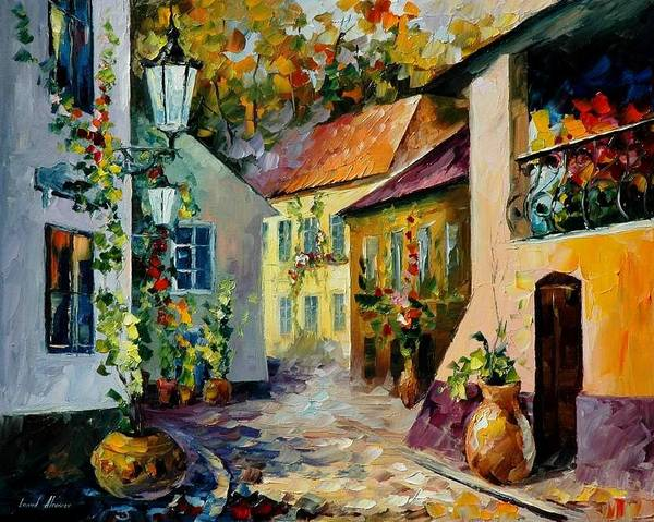 Landscape Art Print featuring the painting Hot Noon Original Oil Painting by Leonid Afremov