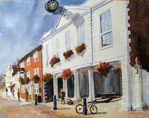 Hythe Art Print featuring the painting Hythe Town Hall by Beatrice Cloake