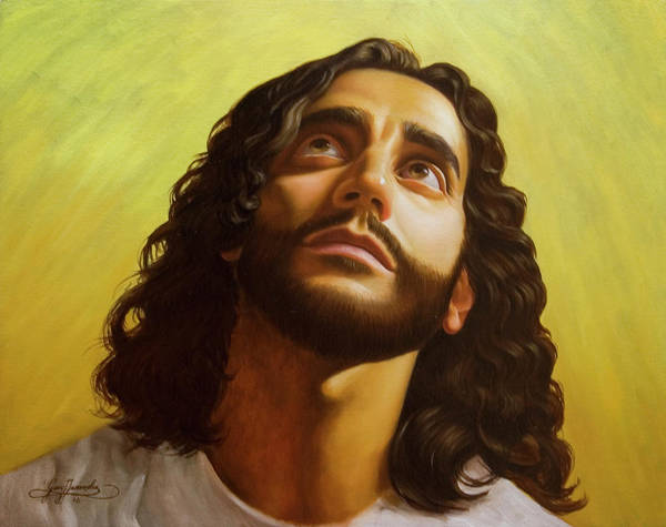Male Figurative Art Print featuring the painting Illumination by Gary Hernandez