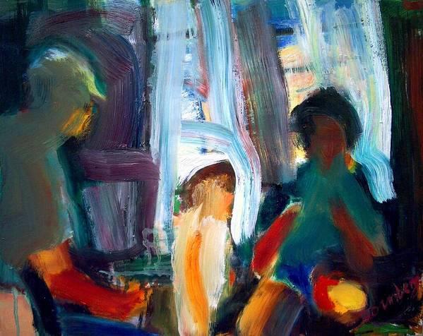 Dornberg Art Print featuring the painting Instructing A Child by Bob Dornberg