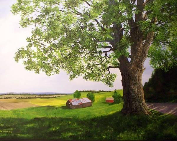 Farm Art Print featuring the painting Jenne Farm by Ken Ahlering