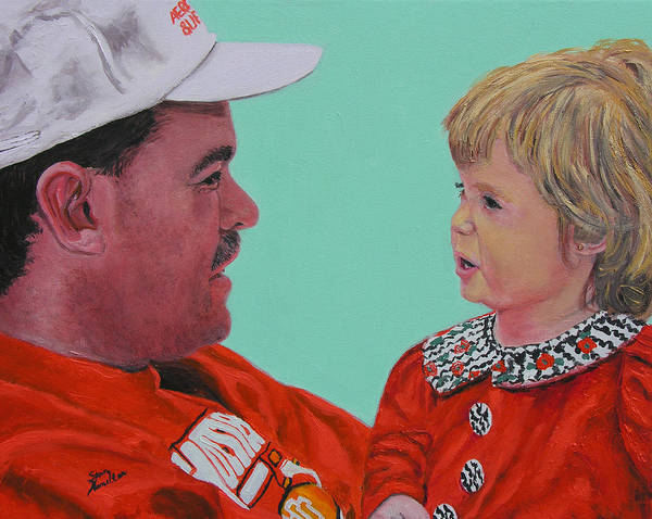 Portrait Art Print featuring the painting John And Megan by Stan Hamilton