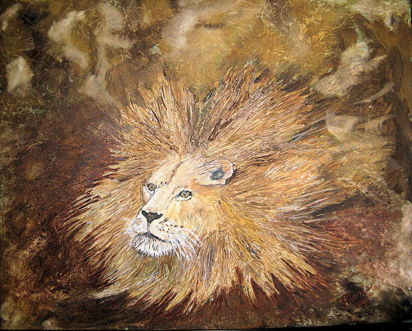 Animals Art Print featuring the painting Joseph's Bad Hair Day by Maris Sherwood