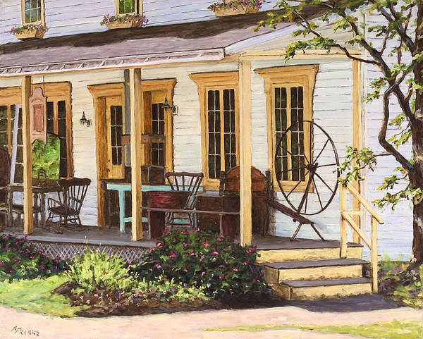 Urban Art Print featuring the painting Knowlton Lac Brome by Richard T Pranke