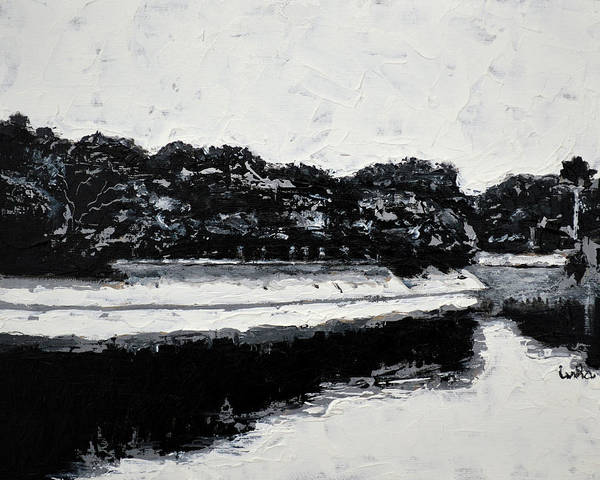 Lal Bagh Lake Art Print featuring the painting Lal Bagh Lake 4 by Usha Shantharam