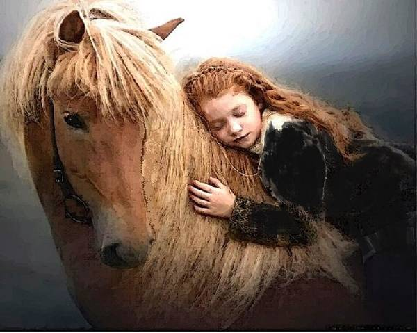 Pony Art Print featuring the mixed media Lassie by Lyn Lunt