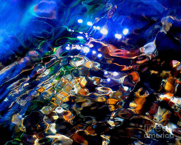 Abstract Print featuring the photograph Layers Of Color And Light by Terril Heilman