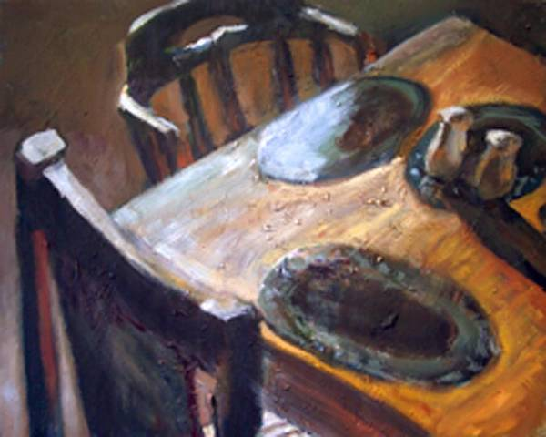 Dornberg Art Print featuring the painting Light From The Window by Bob Dornberg
