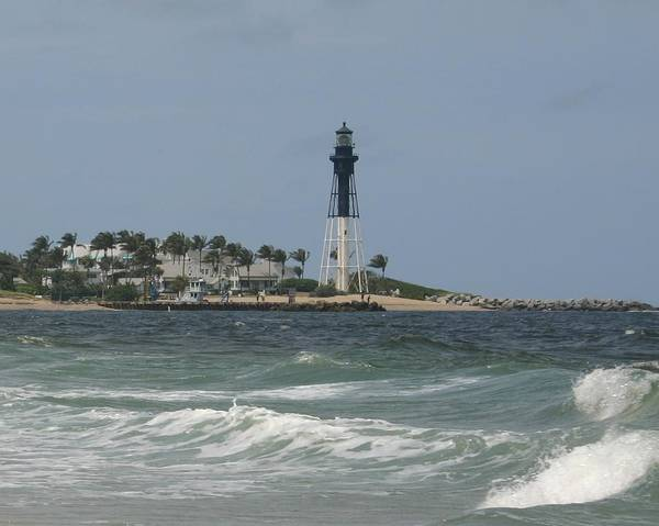 Landscape Art Print featuring the photograph Lighthouse Point Fl. by Dennis Curry