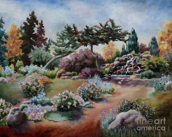 Garden Art Print featuring the painting Little Eden by Brenda Thour