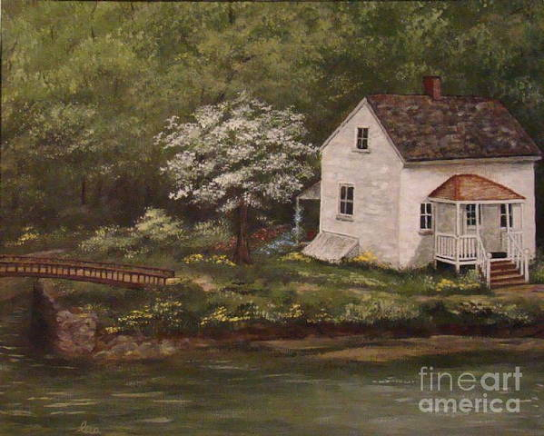 Lock Art Print featuring the painting Lock 8 by Leea Baltes