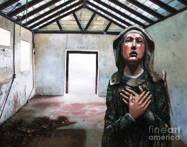 Icon Art Print featuring the painting Losing My Religion by Denny Bond