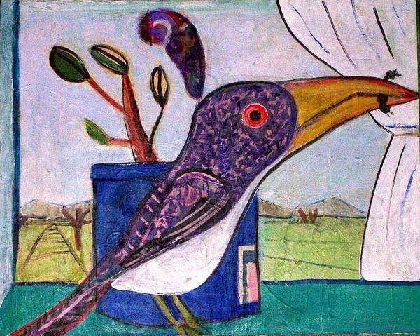 Bird Art Print featuring the mixed media Lunch by Dave Kwinter
