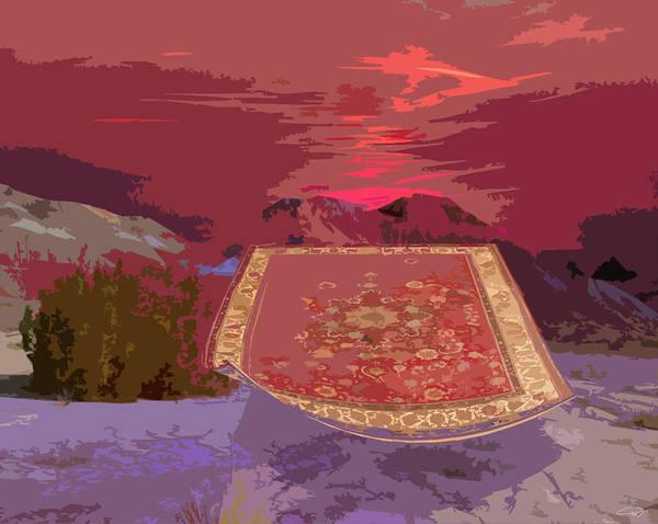 Art Print featuring the digital art Magic Carpet Ride by Melody Crighton
