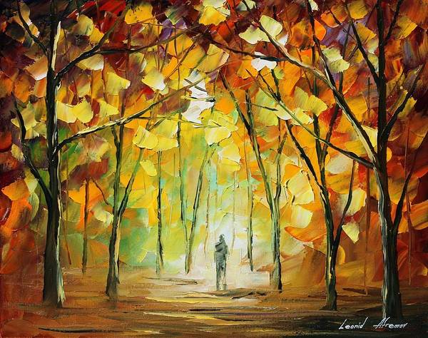 Afremov Art Print featuring the painting Magical Park by Leonid Afremov