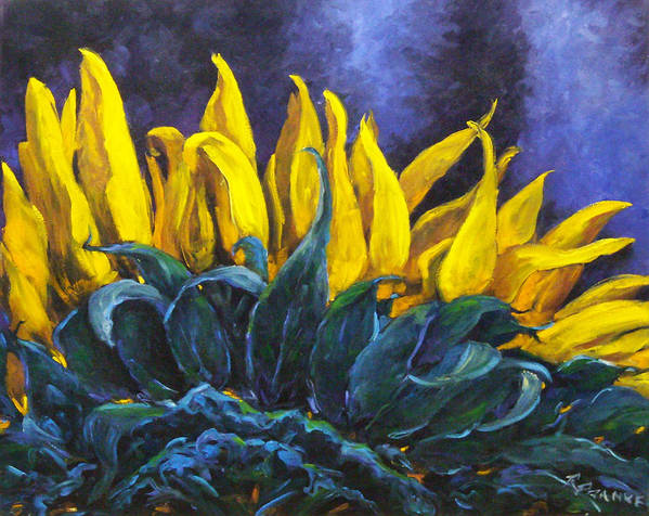 Flower Art Print featuring the painting Majestica by Richard T Pranke